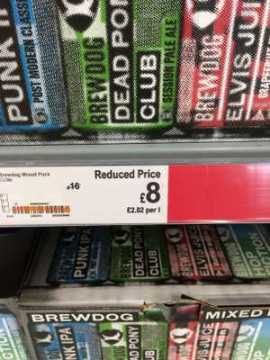 Various case of Brewdog cans - £8 at Asda (Livingston)