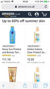 60% up to off sun cream at amazon