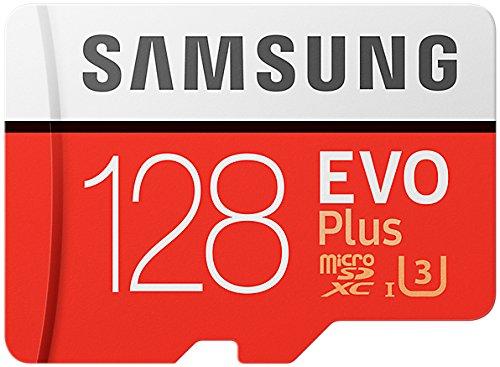Samsung 128 GB 100 MB/s Class 10 U3 Memory Evo Plus MicroSD card with Adapter £36.91 @ Amazon