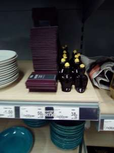 Faux leather pack of 4 coasters 50p \ pie crimper 38p instore @ Asda