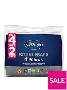 Silentnight buy 4 + get 2 FREE = 6 bounceback pillows for £19 @ Very