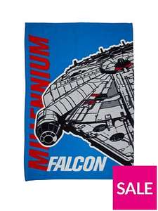 Star Wars Millennium Falcon fleece blanket £6 was £12 @ Very