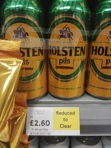 Holstein Pils 4x440ml £2.60 Tesco - canary wharf