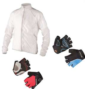 Endura FS260 Pro Adrenaline Waterproof Race Cape £29.99 / Endura Xtract Mitt £9.98 /  Endura Hyperon Mitts £11.99 @ Rutland Cycling