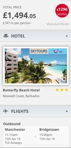 2 week Barbados self catering £747pp via Holiday Pirates