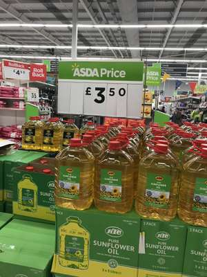ktc sunflower and vegetable oil 5L only £3.50 at Asda