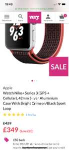 Apple Watch Series 3 GPS & Cellular 42mm £299 @ Very