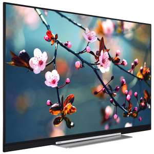 "New Skinny Toshiba 55U7763DB LED 4K Ultra HD Smart TV, 55"" with Built-In Wi-Fi, Freeview HD & Freeview Play, Black £479 @ John Lewis"