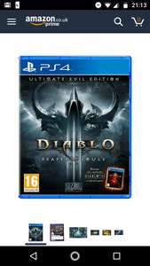 Diablo III Reaper of Souls PS4 £10.49 Prime / £12.48 Non Prime @ Amazon
