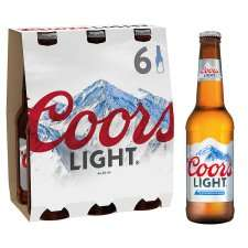 Coors light 6pack £3.32 instore @ Tesco