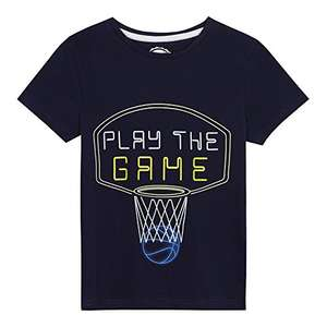Bluezoo Kids Boys' Navy 'Play The Game' Print T-Shirt From Age 5-6 amazon add on item minimum 20 pound spend applies