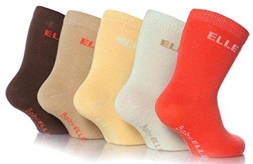Girls 5 Pair Baby Elle Bohemian Plain Socks £1.25 Prime £5.24 Non Prime @ Amazon
