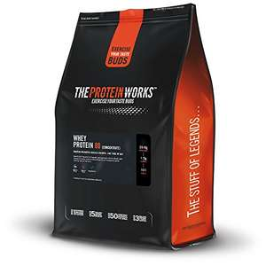 The Protein Works Whey Protein Concentrate 80 flavoured 2KG  £18.49 @ Amazon - Prime Deal