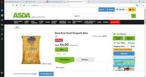 East end chakki atta 5KG for £4 @ ASDA