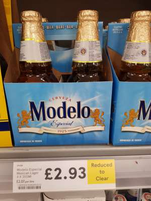 Cerveza Modelo Especial Mexican Lager 4x355ml - RTC from £4.50 to £2.93 @ Tesco