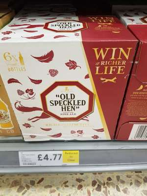 Old Speckled Hen 6x500ml bottles - RTC from £9.00 to £4.77 instore @ Tesco Lowestoft