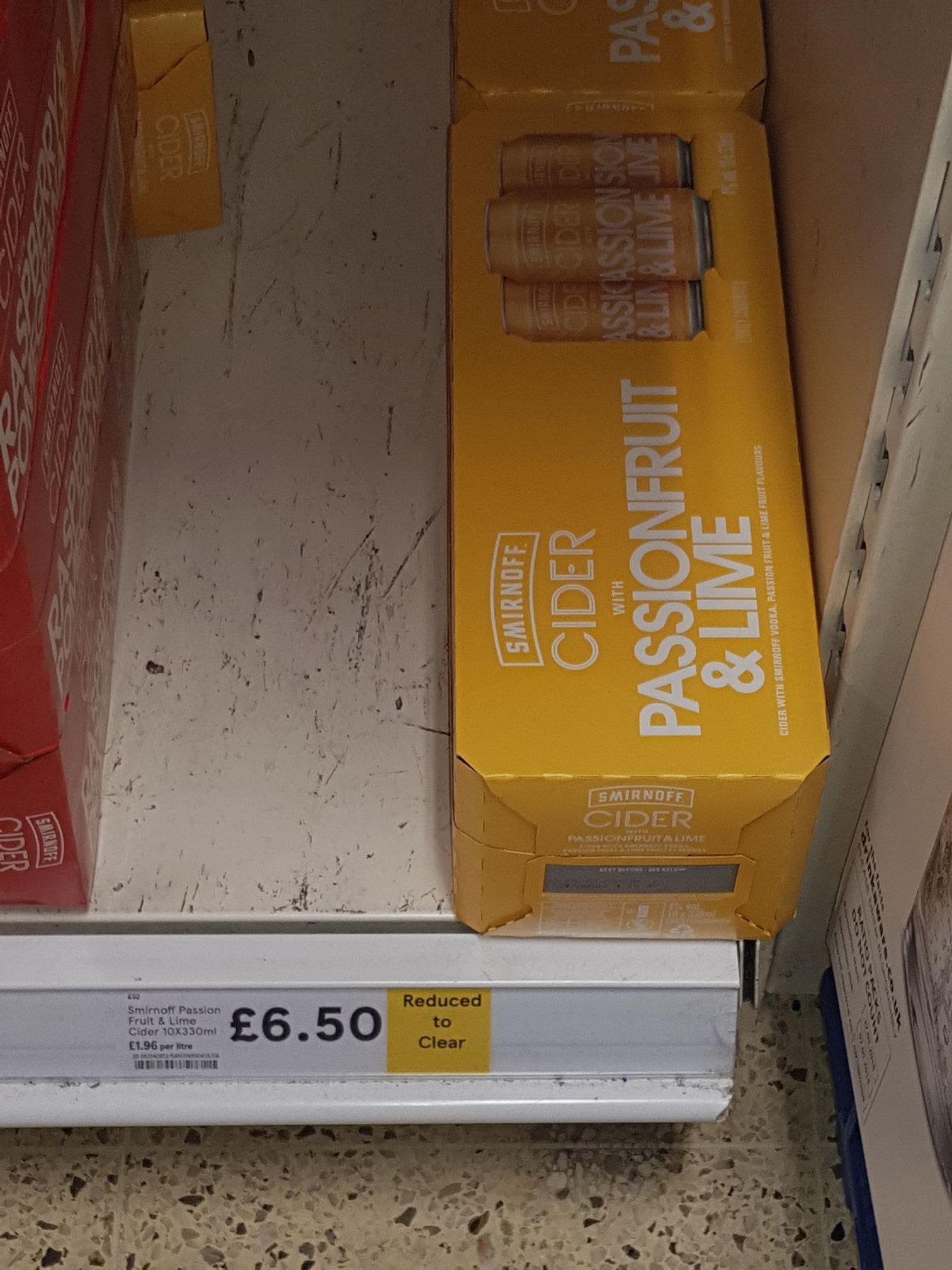 Smirnoff passion fruit & Lime - £6.50 instore @ Farnworth Tesco