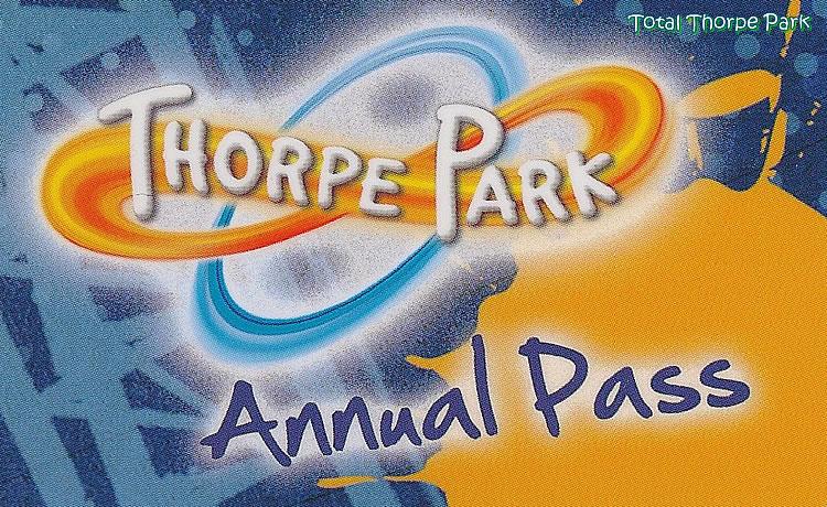 Thorpe park annual pass £49!