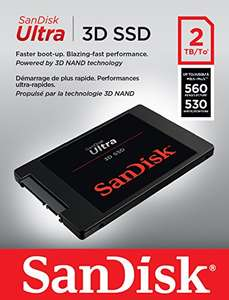 SanDisk Ultra 3D SSD 2TB up to 560MB/s Read / up to 530MB/s Write - £377.49 @ Amazon