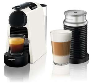 Nespresso Essenza Mini Coffee Machine Bundle - White/Black - £89.99 @ Argos
