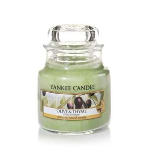 Yankee Candle Medium Olive And Thyme/Cinnamon Stick £8 @ Debenhams - Code SH5X Free Click & Collect