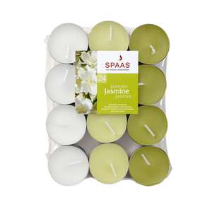 SPAAS JASMINE TEA LIGHT CANDLE, PACK OF 24 - £1.50 C&C only @ B&Q