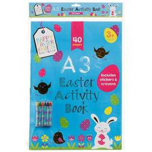 A3 Easter Activity Book £1.00 (was £1.99) @ B&M