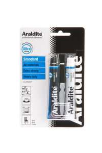 Araldite 2-Tubes Standard Epoxy, 15 ml £3.45 delivered @ Falcon workshop supplies @ Amazon