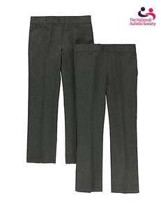 2 Pack Girls' Easy Dressing School Uniform Trousers Online Marks and Spencer (£5-8 depending on size)