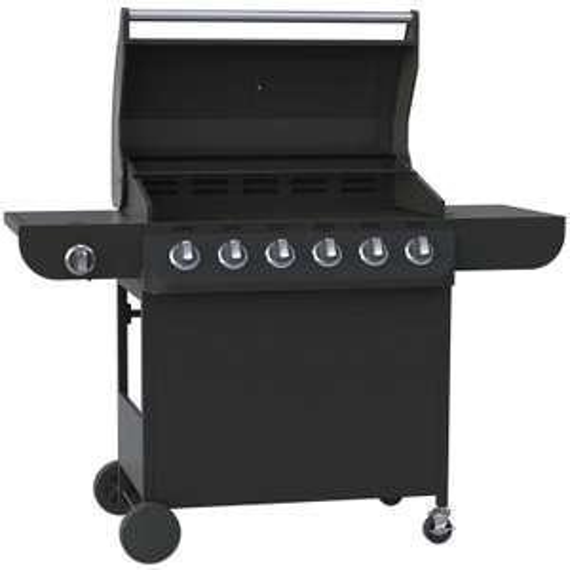 6 Burner Gas BBQ with additional Side Burner - £169 @ Homebase