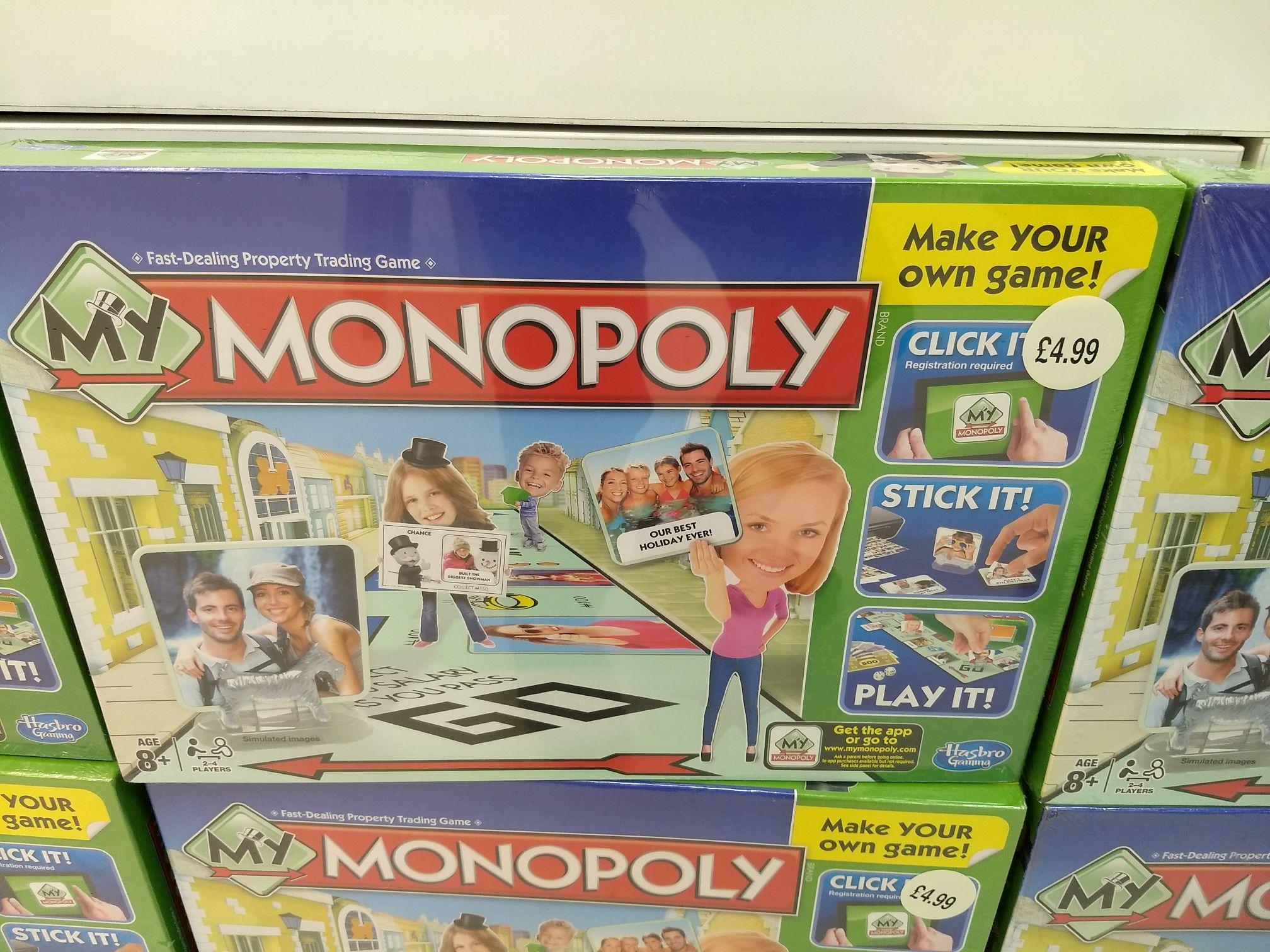 My Monopoly, W H Smith's Tunbridge Wells £4.99