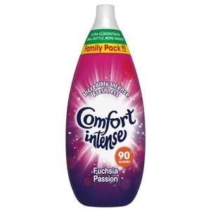 Comfort Intense Fuschia Passion or Fresh Sky HUGE 90 wash Bottle £3.49 @ Home Bargains (Less than 4p per wash)