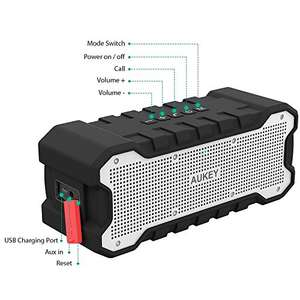AUKEY Outdoor Bluetooth Speaker £16.80 Prime / £21.55 non-Prime (with code) - Sold by Yueying / Fulfilled by Amazon