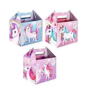 10 x Unicorn Party Boxes £4.49 + FREE delivery at Amazon! Sold and fulfilled by Diamante Crafts