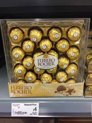 Ferrero Rocher 300g was £7 now £4 at Asda (Eastbourne). Just £1.33 per 100g. 24 pieces.