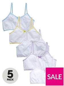 Pack of 5 girls crop tops 3-4,5-6 now £3.30 @ Very (C&C)