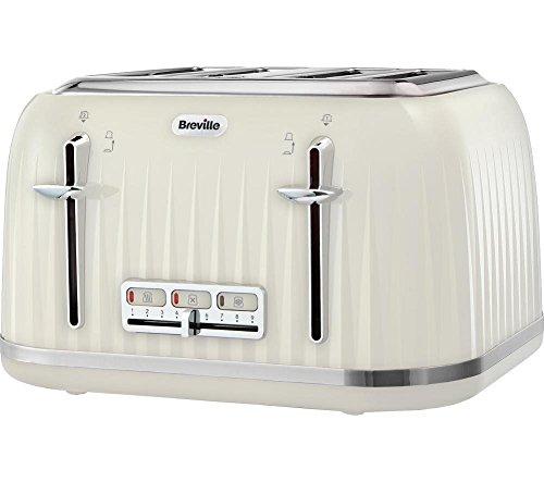 Breville VTT702 Impressions 4 Slice Toaster - Cream - £26 @ Amazon
