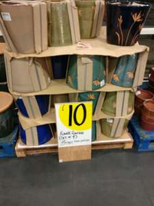 4 glazed outdoor garden pots instore at Homebase for £10