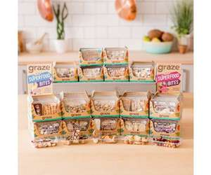 Huge Graze Snack Bundle Half Price includes 108 Snack Punnets for £52.16