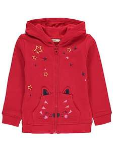 Cat face Zip up hoodie all sizes upto 3-4 yrs £5-50 @ Asda