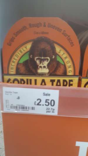 Gorilla tape instore at Asda for £2.50