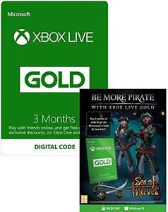 Free Sea of Thieves Mercenary's Outfit & Item Pack if you buy Xbox 3 Months Gold £14.86 @ Amazon
