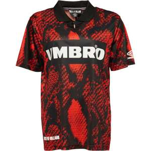 Umbro X HOH Snake Collared Football Shirt Red £13.99 (+£4.49 del) @ MandM Direct