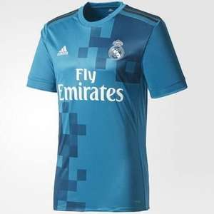 Real Madrid 17/18 3rd kit in vivid teal, solid grey and white for £25 + £3.95 Del @ pro direct: soccer