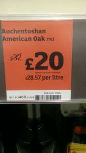 Auchentoshan American Oak 70cl whisky £20 at Sainsbury's