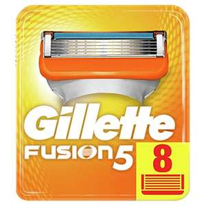 Gillette Fusion5 Razor Blades, 8 Refills - £9.75 - with Amazon S&S Voucher of £3