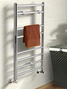 Chrome 800 x 500 Towel Rail 24.99 down from 49.99 Free click and collect - Better Bathrooms