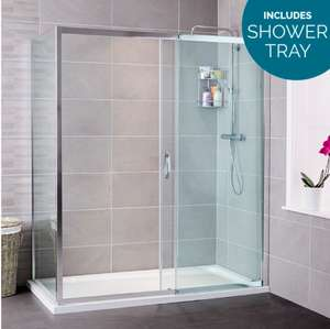 1200 x 800 Shower Enclosure - Free click and collect - 15 year warranty - £289.99 down from 979.99 @ Better Bathrooms
