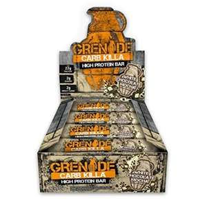 24 Grenade Carb Killa bars for £24.95 + £4.95 delivery at Musclefood
