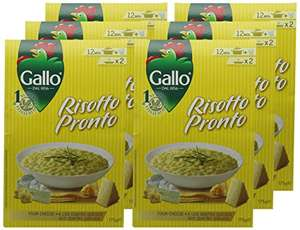 Gallo Risotto Pronto 4 Cheese 175 g (Pack of 6) amazon add on item £4.52 (minimum 20 pound spend applies)